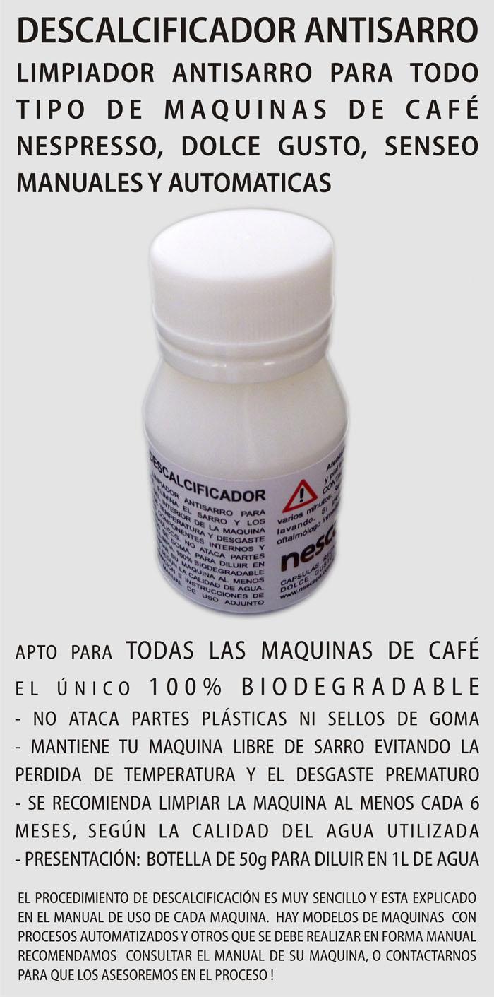 Descalcificador Antisarro Nespresso Dolce Gusto Senseo CAPSULAS RECARGABLES